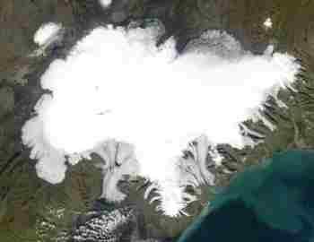 Исландия. Снимок из космоса