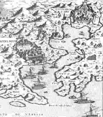 Карта древнего города Котор