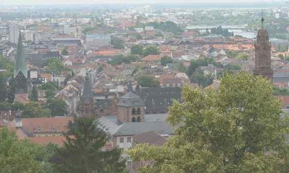 Панорама немецкого города Хайдельберг