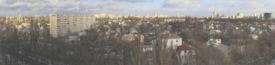 Панорама Соломенского района города Киева