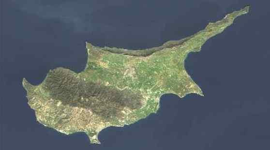Снимок из космоса острова Кипр