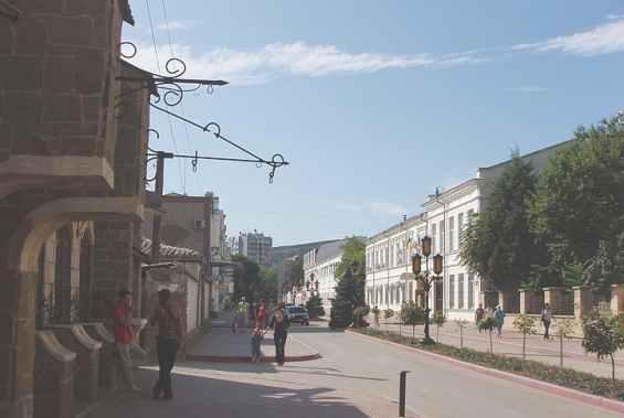 Город Феодосия. Полуостров Крым