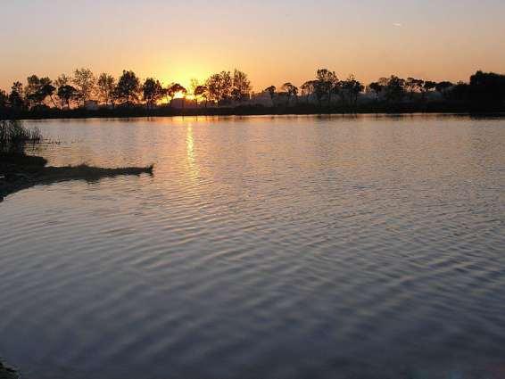 Закат на озере Кагул