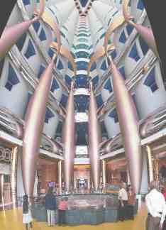 Вестибюль отеля Бурж-аль-Араб