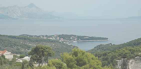 Вид на Адриатическое море с холма