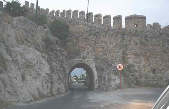 Вход в крепость города Аланья