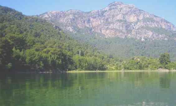 Курорт Даламан. Озеро