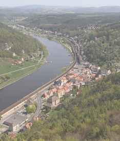 Город Кёнигштайн. Река Эльба