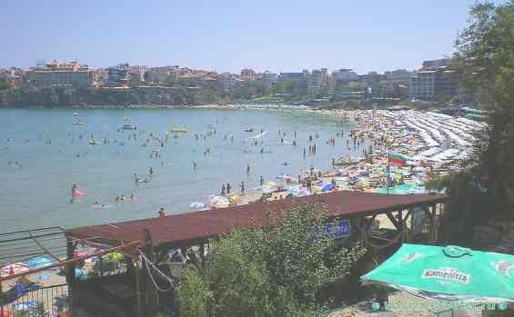 Пляж в городе Созопол. Болгария
