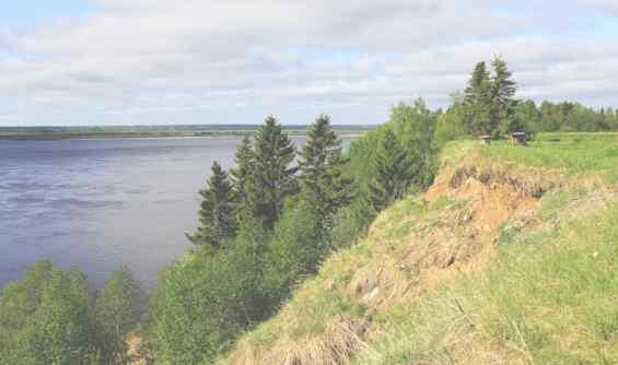 Река Северная Двина -- природная красота