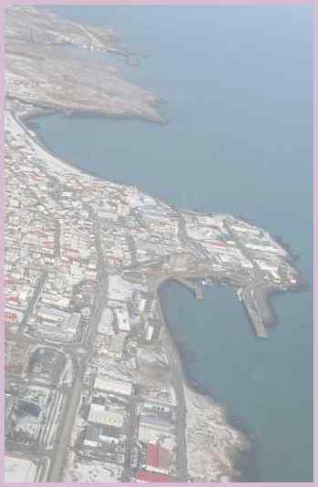 Прибрежный исландский город Кеблавик