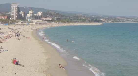 Песчаный пляж побережья Коста дель Маресме