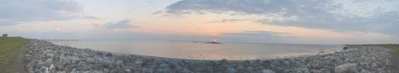 Красивейший закат  на озере Окичоби
