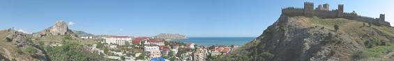 Панорама курорта Судак