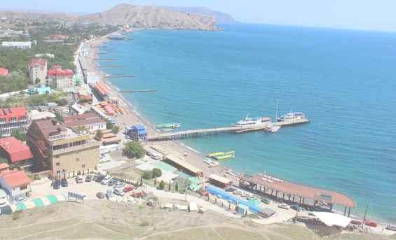 Курорт Судак. Пляж. Судакский залив