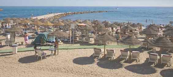 Пляж. Марбелья. Испания