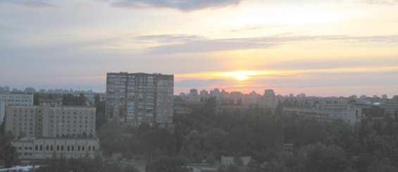Соломенский район Киева. Закат