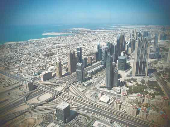Курорт Дубай. Вид с высочайшего в мире здания Бурдж Халифа